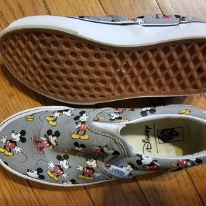 Girls size 3 Mickey Mouse Vans - never worn